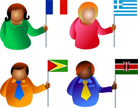flag people Stock Photo - 277920