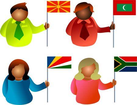 identidad cultural: bandera de la gente Foto de archivo