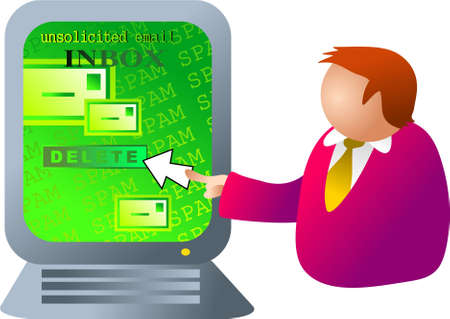 unsolicited: computer spam Stock Photo
