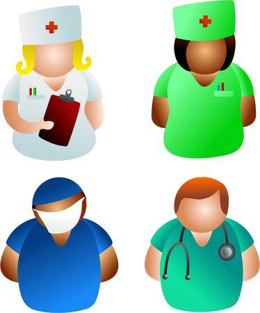 Médicos y enfermeras  Foto de archivo - 280252