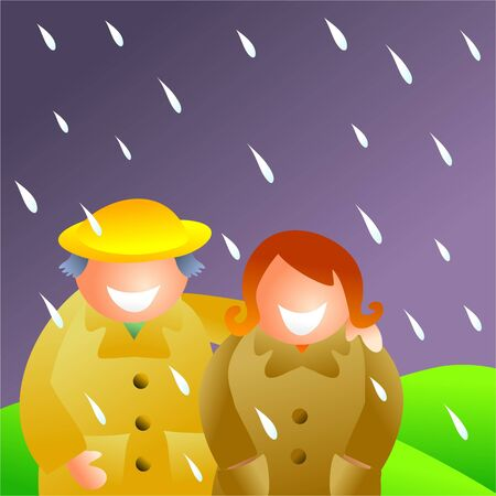 couple in the rain Stock Photo - 282497