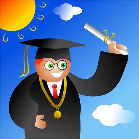 graduación niño  Foto de archivo - 286788