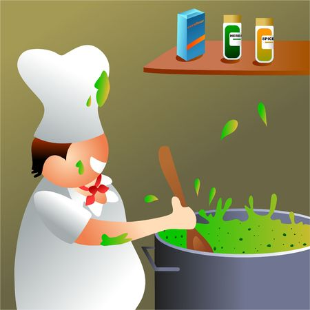 edibles: chef at work Stock Photo