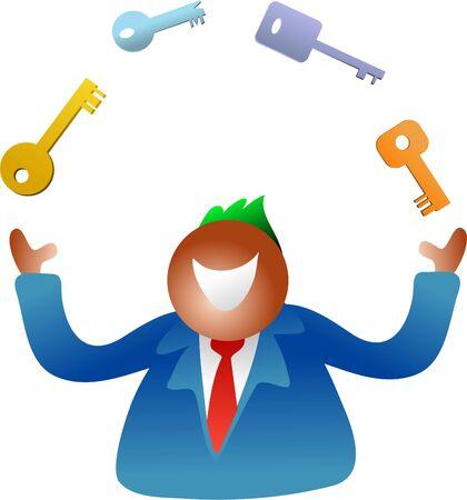 juggling keys photo