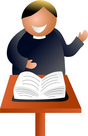 sermon: preacher Stock Photo