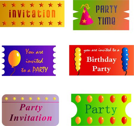 admittance: party tickets Stock Photo