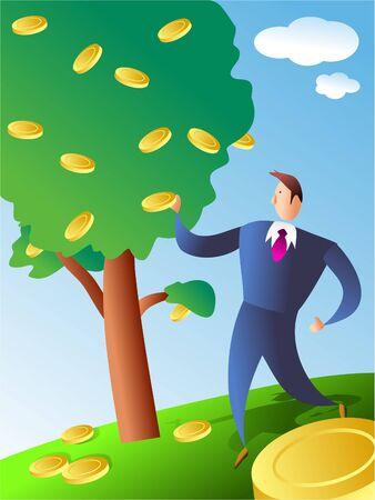 coin tree photo
