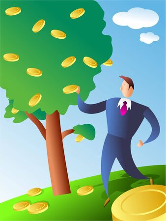 money tree: coin tree Stock Photo