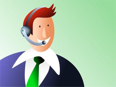 helpline: customer service helpline Stock Photo