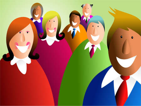diverse business team: happy and diverse business team Stock Photo