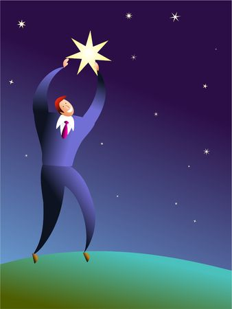 excellence: reach for the stars Stock Photo