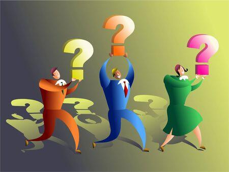 inquire: quiz team Stock Photo