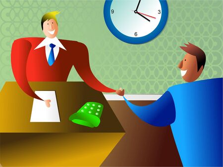 hired: your hired - business handshake
