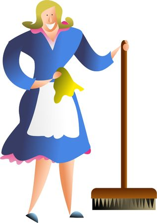 duties: occupations and jobs - happy cleaner  housewife