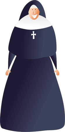 vocation: occupations and jobs - happy nun
