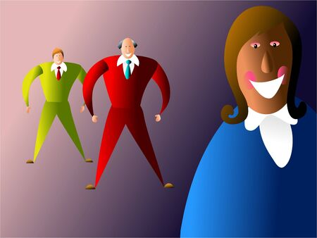 diverse business team: diverse business team featuring ethnic diversity and different age groups