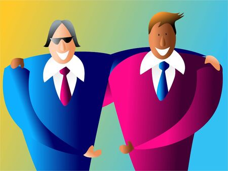 happy and diverse business partnership Stock Photo - 306270