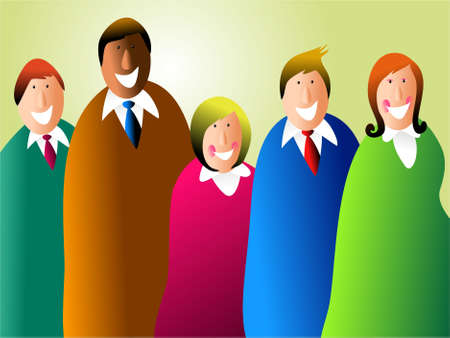 diverse business team: diverse business team - featuring ethnic diversity and people of different sizes Stock Photo