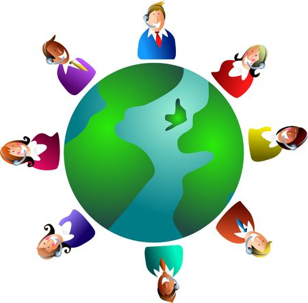 global customer service team photo