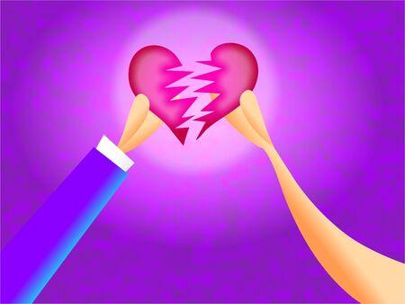 unloved: broken heart - divorce Stock Photo