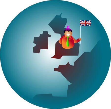 briton: patriotic Britain Stock Photo