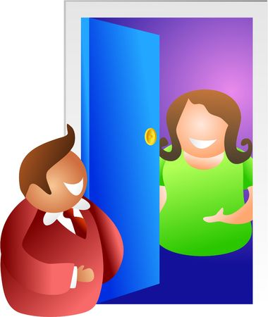somebody: theres somebody at the door - icon people series