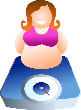 weighing: weighing scales - icon people series
