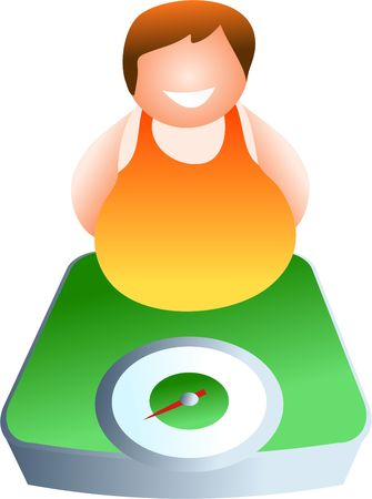 bathroom weight scale: weighing scales - icon people series