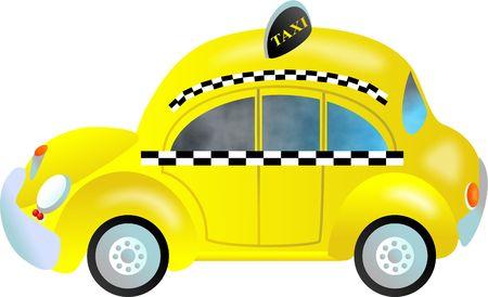 La ciudad de Nueva York taxi taxi