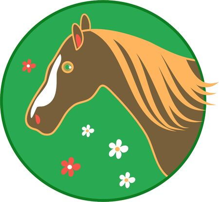 cheval dessin stylisé Banque d'images - 337232