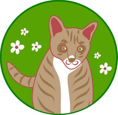 gatto stilizzata di disegno per animali da compagnia Archivio Fotografico - 337225