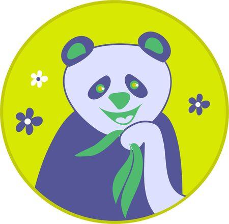 stylised panda bear drawing