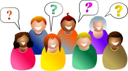 group questions - icon people series photo