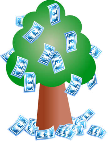 windfall: pound tree - pound notes growing on a tree
