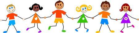 version: colourful kids - six kiddie version