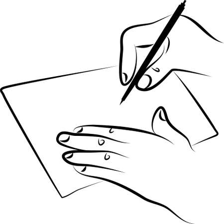 signing: hands signing a document