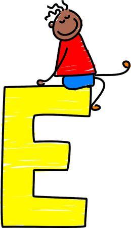 alphabet kids: letter E boy - toddler art series
