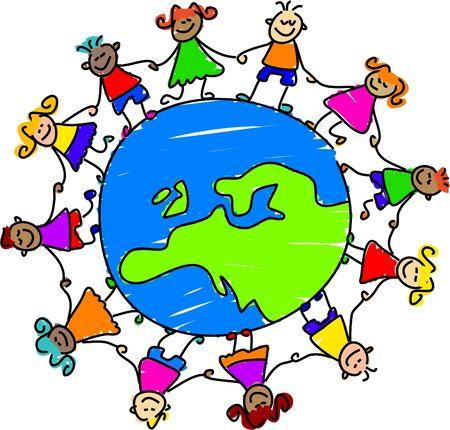 european kids - toddler art series Stock Photo - 355276
