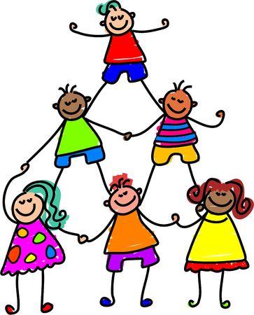 teamwork kids - toddler art series Stock Photo - 355264