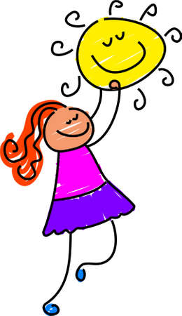 contentment: sunshine girl - toddler art series