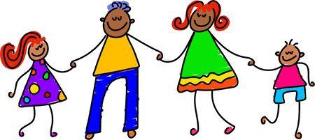 familia unida: familia feliz - Embarazo arte serie