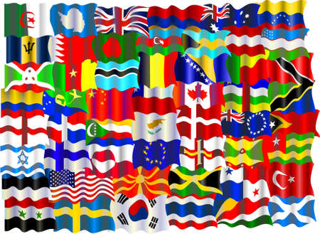montage of world flags Stock Photo - 362502
