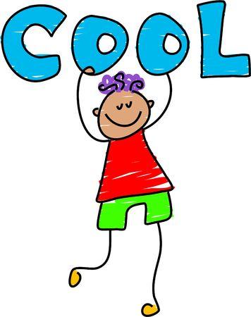 cool kid - toddler art series Stock Photo - 362515