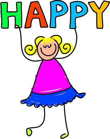 happy kid - toddler art series Stock Photo - 362517