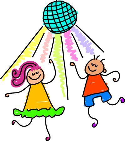 movers: dancing kids - toddler art series