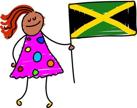 jamaican: Jamaican kid - toddler art series Stock Photo