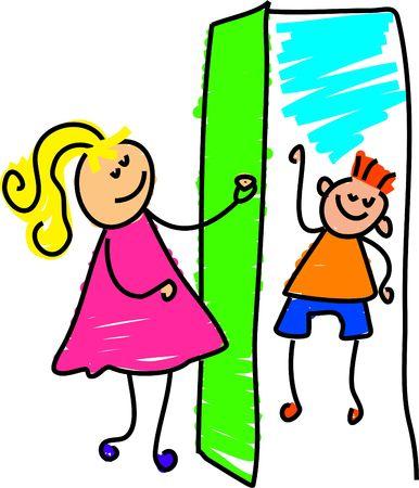 mon visiteur - Petite enfance art série