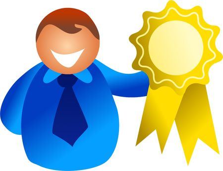 rosette winner - icon people series Stock Photo - 374852
