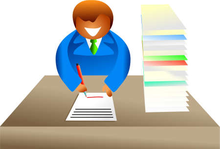 paperwork - icon people series Stock Photo - 382163