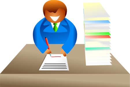 paperwork - icon people series Stock Photo - 382163
